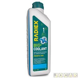 Aditivo para radiador - Radiex - azul - Bio coolant pronto uso - 1 Litro - cada (unidade) - R-1893