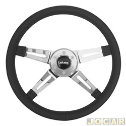 Volante - Lotse - Four - 350 mm - preto - cada (unidade) - FOR-PR