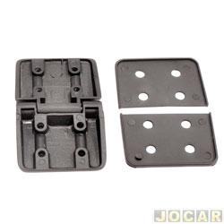 Dobradiça da portinhola - alternativo - Duplo para tampas (Uso geral) - preta - cada (unidade)