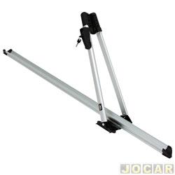 Suporte para bicicleta - Kiussi - Tonale com chave - vai no teto - precisa de rack - prata - cada (unidade) - 01-101