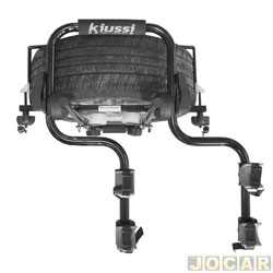 Suporte para bicicleta - Kiussi - Brennero - fixado no estepe externo lateral- p/ 2 bicicletas - preto - cada (unidade) - 03-912