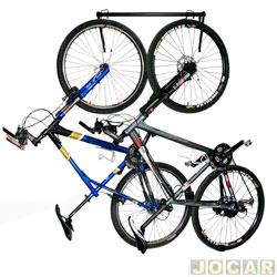 Suporte para bicicleta - Kiussi - Wall Rack - de parede completo para 2 bicicletas - cada (unidade) - 05-010B