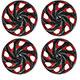 Calota aro 14 - Podium - Universal Twister - vermelha e preta - jogo - P845