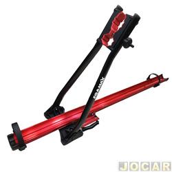 Suporte para bicicleta - Eqmax - Big bike teto - velox aluminium - vermelha - jogo - 1214