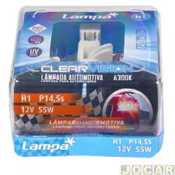 Kit lâmpada do farol - Lampa - H1 12V - Clear vision - 4300K luz branca - jogo - C-P0001W.
