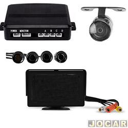 Sensor de estacionamento - Suns Faróis - com visor 3,5 e camera cap5502 - preta - cada (unidade) - SR505