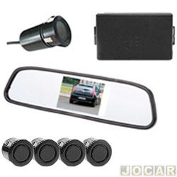 Sensor de estacionamento - Suns Faróis - c/ câmera imagem no retrovisor-alarme e 4 sensores de 18,5mm - preto - cada (unidade) - SR602
