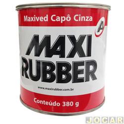 Massa plástica - Maxi Rubber - 380 gramas-com catalisador - cinza - cada (unidade) - 705514