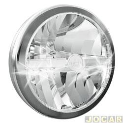 Farol de milha - Valeo/Cibié - Led - 7 polegada - cromado - cada (unidade) - 045.306