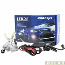 Kit lâmpada led do farol - Shocklight - H1 35W 3200 lúmens - Headlight - jogo - SLL-10001