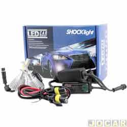 Kit lâmpada led do farol - Shocklight - H3 35W 3200 lúmens - Headlight - jogo - SLL-10003