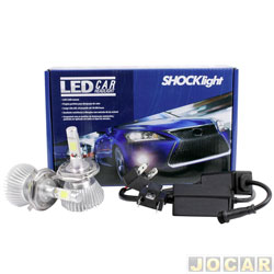 Kit lâmpada led do farol - Shocklight - H4 32W 2200 lúmens - Headlight - jogo - SJ03240003