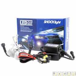 Kit lâmpada led do farol - Shocklight - H7 35W 3200 lúmens - Headlight - jogo - SLL-10007