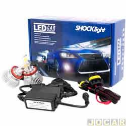 Kit lâmpada led do farol - Shocklight - H8 35W 3200 lúmens - Headlight - jogo - SLL-10008