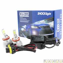 Kit lâmpada led do farol - Shocklight - H11 35W 3200 lúmens - Headlight - jogo - SLL-10011