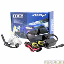 Kit lâmpada led do farol - Shocklight - H27 35W 3200 lúmens - Headlight - jogo - SLL-10027