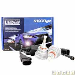 Kit lâmpada led do farol - Shocklight - HB3 32W 2200 lúmens - Headlight - jogo - SLL-19005