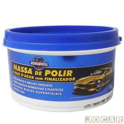 Massa de polir - Rodabrill - com cera - a base d'água com finalizador - 350g - cada (unidade) - 14-641