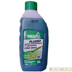 Aditivo para radiador - Techbio - dose unica biodegradável - 1 litro  - verde - cada (unidade) - TB006