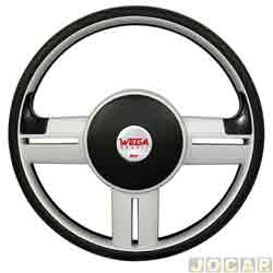 Volante - Wega - Rally Slim - prata - cada (unidade) - WC-031