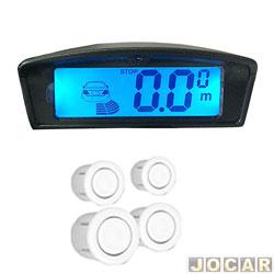 Sensor de estacionamento - alternativo - Over Vision - display LCD com ilumina��o ambar e azul - branco - cada (unidade) - 102504BCO
