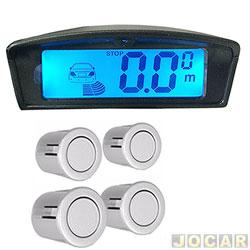 Sensor de estacionamento - Over Vision - display LCD com iluminação ambar e azul - prata - cada (unidade) - 102504PTA