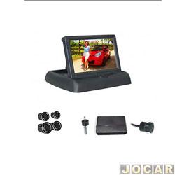Sensor de estacionamento - Over Vision - tela modelo flip-down - 4 sensores - preto - cada (unidade) - 109435PTO