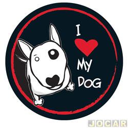 Capa de estepe - Comix Acessórios - EcoSport/CrossFox/AirCross 2010 até 2015/Spin - i love my dog - cada (unidade) - CC532