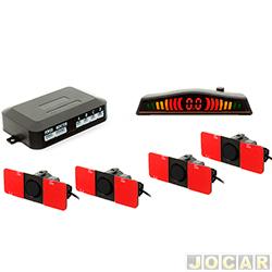 Sensor de estacionamento - H-Tech - display led colorido, sensores OEM - padrão original - preto - cada (unidade) - HT-OEM01