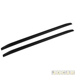 Rack de teto longitudinal (longarina) - TG Poli - peça auto colante (apenas enfeite) 160 cm - preto - par - 05.051