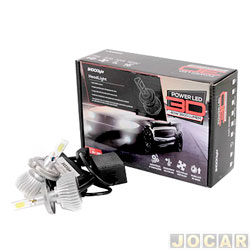 Kit l�mpada led do farol - Shocklight - power led 3D - H4 40W 3600 l�mens - Headlight 6000K - jogo - SLL-20004