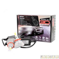 Kit lâmpada led do farol - Shocklight - power led 3D - H8 40W 3600 lúmens - Headlight 6000K - jogo - SLL-20008