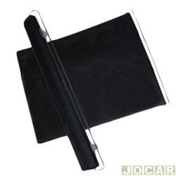 Para-sol do para-brisa - rolo com ventosas para fixar e ajustar no vidro - preto - cada (unidade)