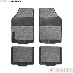 Tapete de borracha - Borcol - Grupo C (tipo universal - ver detalhes) - torino carpete - Milano - 4 peças - cinza - jogo - 03718753