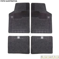 Tapete de borracha - Borcol - Grupo C (tipo universal - ver detalhes) - torino carpete - Milano - 4 peças - preto - jogo - 03718851 torino