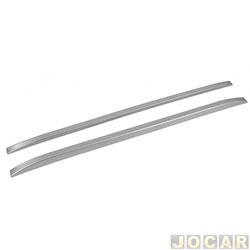 Rack de teto longitudinal (longarina) - TG Poli - 160 CM colante - prata - par - 705985