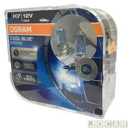 Kit lâmpada do farol - Osram Sylvania - H7 - cool blue intense - 4200K - jogo - 64210 CBL