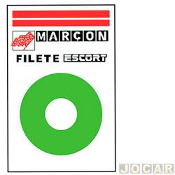 Faixa adesiva - alternativo - 10 metros - faixa paralelas - verde - cada (unidade)