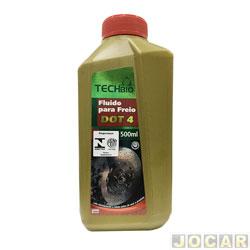 Óleo do freio - Techbio - DOT4 - Ponto de ebulição seco 230° e úmido 145° - 500mL - cada (unidade) - TB-054