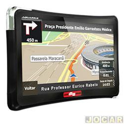 GPS (navegador) - Quatro Rodas - guia automotivo - tela 5 - TV digital/com alerta de radar - cada (unidade) - MTC4508