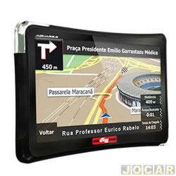 GPS (navegador) - Quatro Rodas - guia automotivo - Slim tela 4.3 com alerta de radar - cada (unidade) - MTC4310
