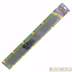 Limpador do para-brisa - Blankar - Gol 95/99 - Sant.99/-S10-Escort 93/03-Clio /98-... - dupla - 20/20 - preta - par - B120