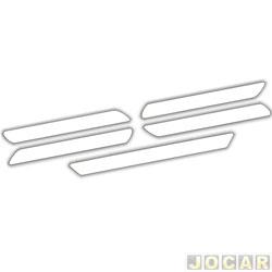 Protetor do para-choque - Sport Inox - transparente - autoadesivo universal - 5 peças - pequeno - jogo - PROT003