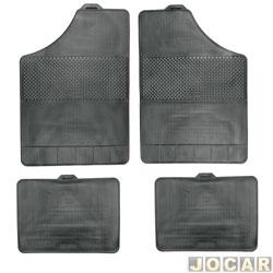 Tapete de borracha - BRB Unicol - Serie 1 (tipo universal - ver detalhes) - Stratus 4 peças - preto - jogo - 101001.1/1001