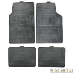 Tapete de borracha - BRB Unicol - Série 2 (tipo universal - ver detalhes) - Stratus 4 peças - preto - jogo - 101002.1/1002