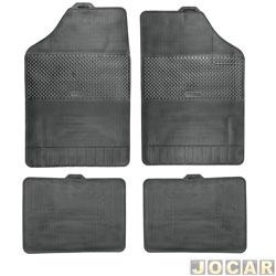 Tapete de borracha - BRB Unicol - Série 3 (tipo universal - ver detalhes) - Stratus 4 peças - preto - jogo - 1003