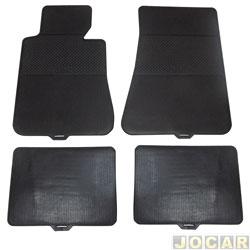 Tapete de borracha - BRB Unicol - Série 4 (tipo universal - ver detalhes) - Stratus 4 peças - preto - jogo - 101004.1/1004