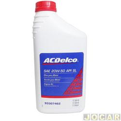 Óleo do motor - ACDelco - SAE 20W/50 API SL - 1 litro - cada (unidade) - 93307462