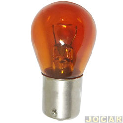 Lâmpada - GE (General Electric) - 1 polo - pinos desencontrados - âmbar (amarela) - cada (unidade) - 1056.