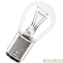 Lâmpada - GE (General Electric) - 2 polos - P21/5W 12V - pinos em alturas diferentes - cada (unidade) - 60979
